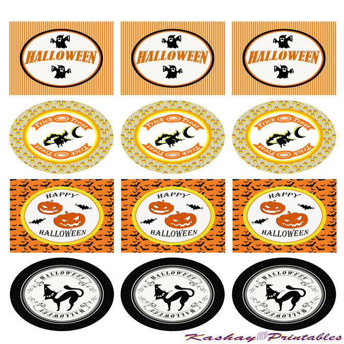 Halloween Party Circles | Kashay.co.uk