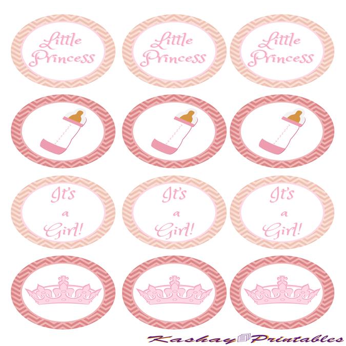 Princess Baby Shower Party Circles | Kashay.co.uk